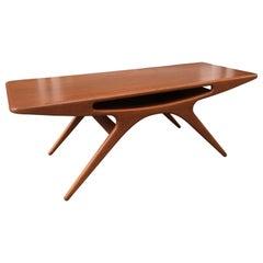 "Johannes Andersen ""Smile"" Teak Coffee Table"