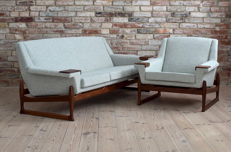 This set of furniture was produced by AB Trensums Fåtöljfabrik from Sweden around 1950s/1960s. Like most furniture from Scandinavia, this set was also made with great care and accuracy, which we could observe throughout the renovation process.