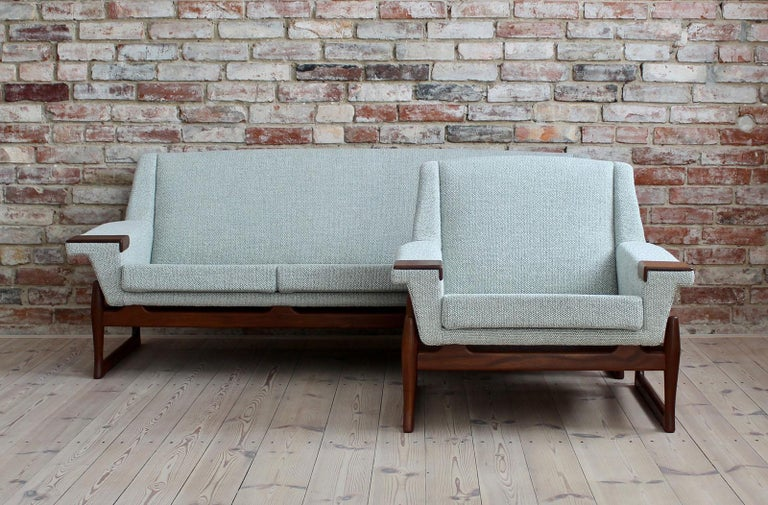 Scandinavian Modern Johannes Andersen Sofa Set, AB Trensums, Mid-Century Modern, Scandinavian Design For Sale