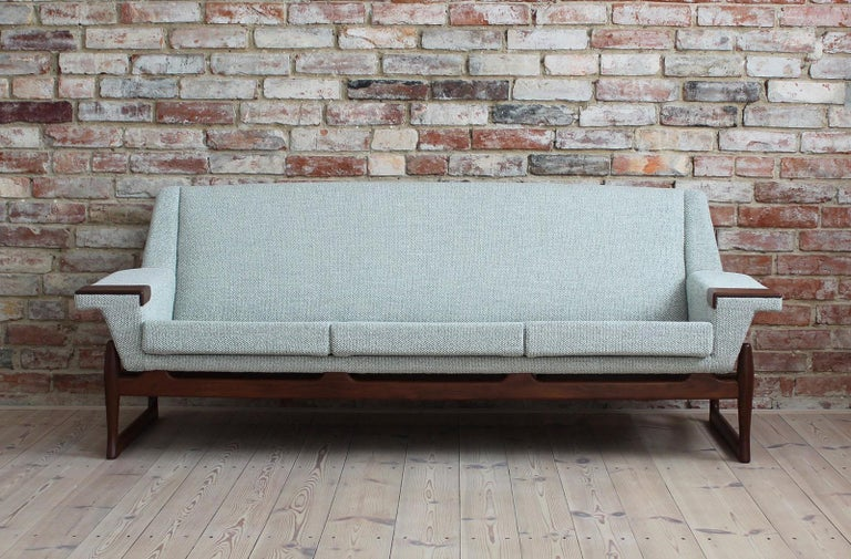 Johannes Andersen Sofa Set, AB Trensums, Mid-Century Modern, Scandinavian Design In Excellent Condition For Sale In Wrocław, Poland