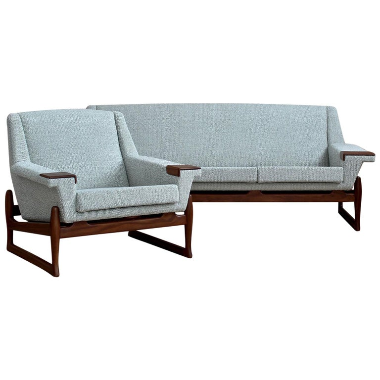 Johannes Andersen Sofa Set, AB Trensums, Mid-Century Modern, Scandinavian Design For Sale