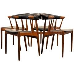 Johannes Andersen Teak Dining Chairs, Set of Four