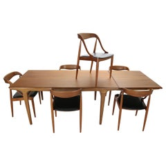Johannes Andersen Teak Dinning Room Set for Uldum Møbelfabrik, 1960s, Denmark
