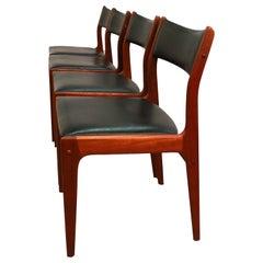 Johannes Andersen Uldum Møbelfabrik Danish Teak Dining Chairs