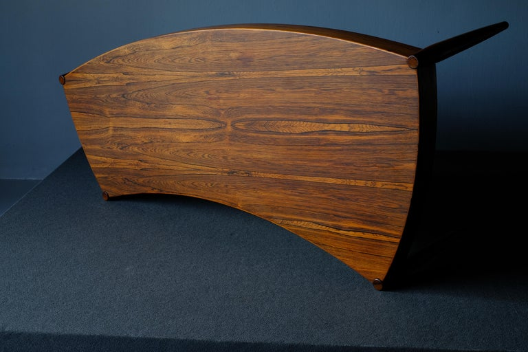 Scandinavian Modern Johannes Anderson Rosewood Coffee Table For Sale