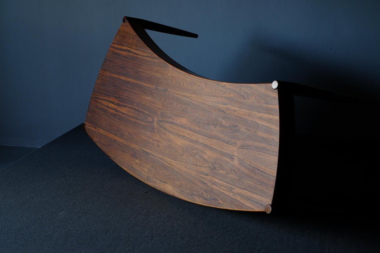 Swedish Johannes Anderson Rosewood Coffee Table For Sale
