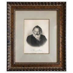 Johannes Brahms Composer Historic Hand Autographed in Ink Engraving / Etching