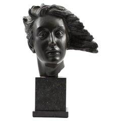 Johannes C. Bjerg, Bronze Head Sculpture of Artemis