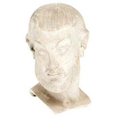 Johannes C. Bjerg. Plaster Cast Bust