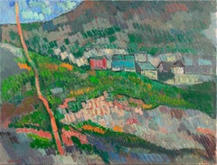 'View of a Village', Large Post-Impressionist Landscape, Danish Royal Academy