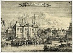 T Admiraliteytshof - View of the Admiralty-Court in Rotterdam.