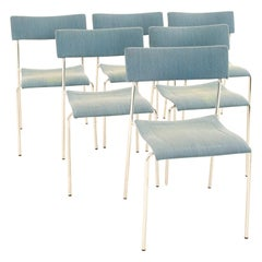 Johannes Foersom for Lammhults MCM Campus Stackable Dining Chairs, Set of 6