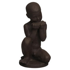 Johannes Hansen for Knabstrup, Large Ceramic Figure of a Boy