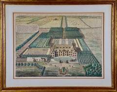 Early 18th Century Bird's-Eye View of Grimsthorpe Castle, Lincolnshire, England