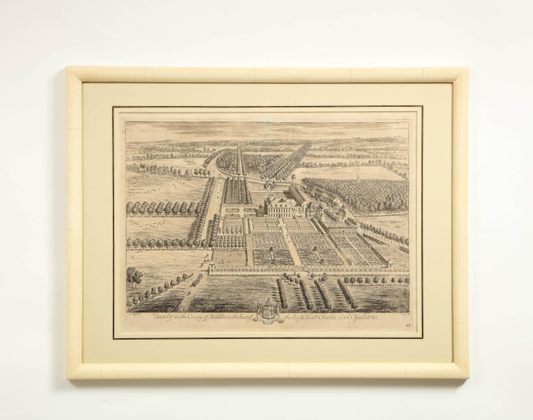 Set of Ten Views of Country Houses from the Britannia Illustrata For Sale 1