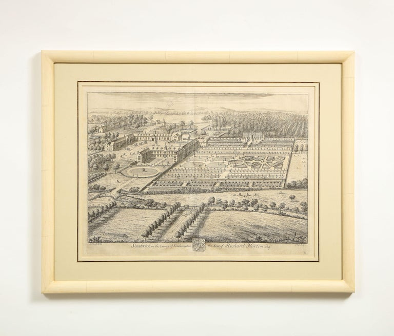 Set of Ten Views of Country Houses from the Britannia Illustrata For Sale 2