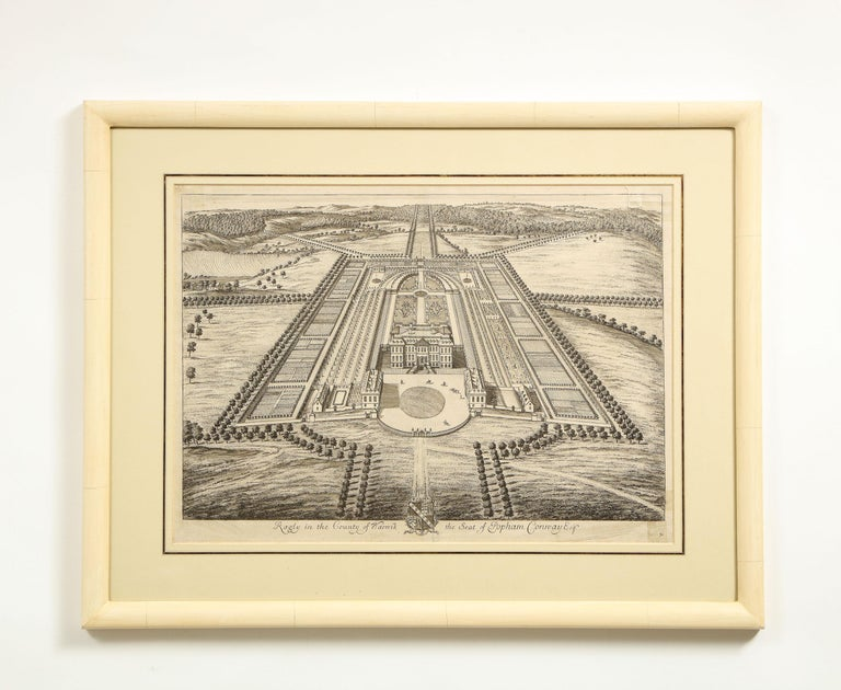 Set of Ten Views of Country Houses from the Britannia Illustrata For Sale 5