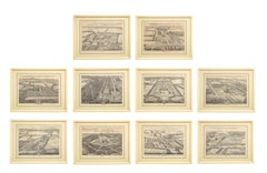 Set of Ten Views of Country Houses from the Britannia Illustrata