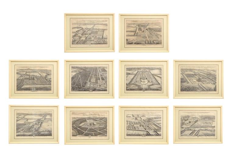 Johannes Kip Print - Set of Ten Views of Country Houses from the Britannia Illustrata