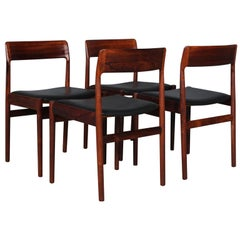 Johannes Nørgaard Set of Four Chairs, Rosewood