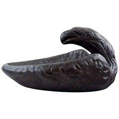 Johannes Olofsson for Höganäs Art Nouveau Eagle Pottery Bowl