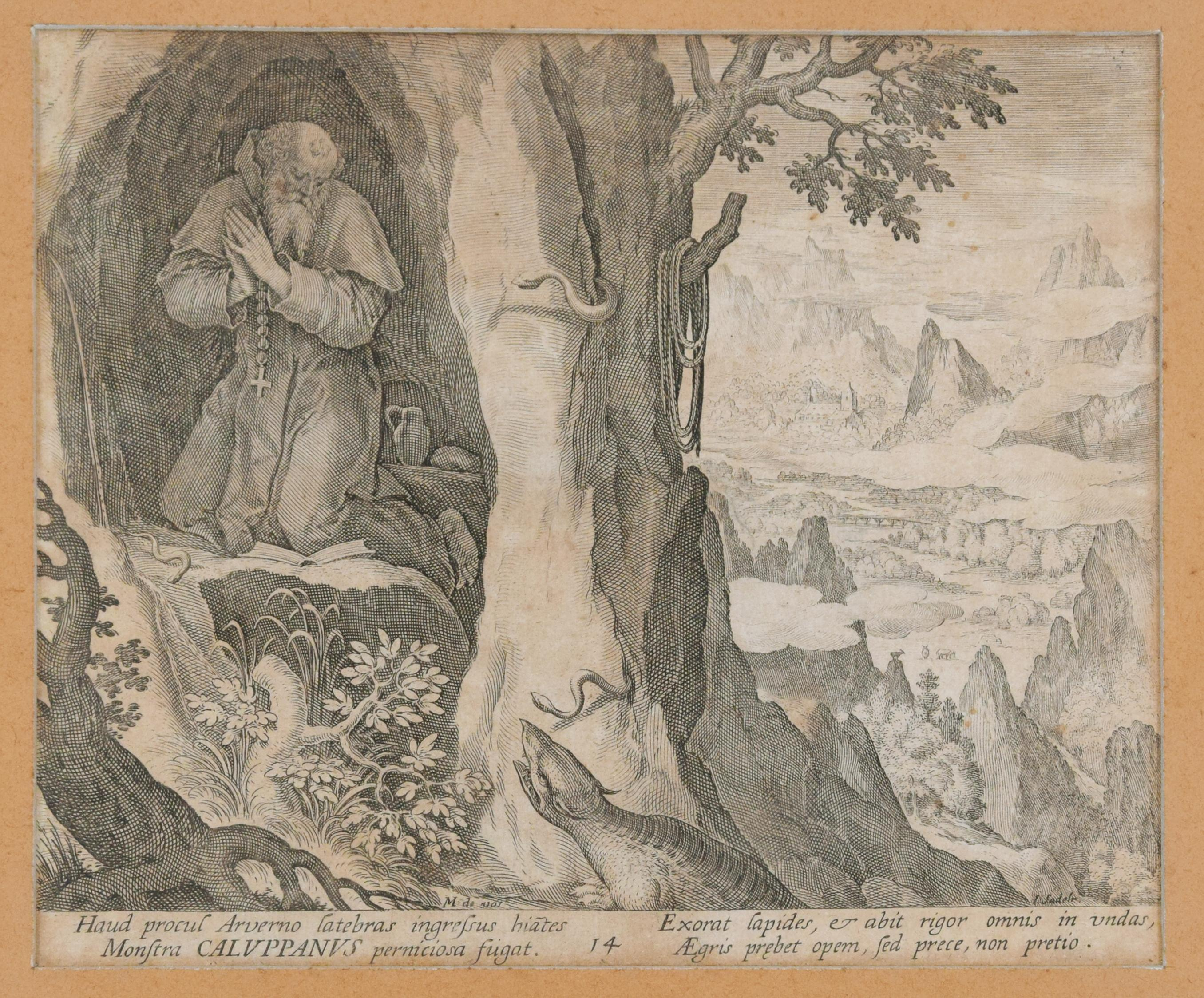 Caluppanus - Original Etching by Johannes Sadeler