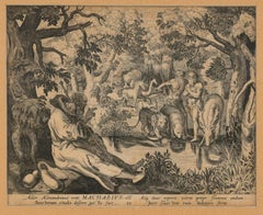 Hermit Macharius of Alexandria - Original Etching by Johannes Sadeler
