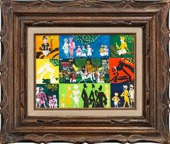 """Auteuil, Paris"" Original Oil on Canvas Board by Johannes Schiefer, Framed"