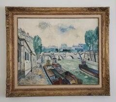 Johannes Schiefer, Oil on Canvas,  La Seine Paris