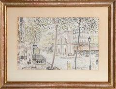 Porte Saint Martin, Paris Landscape Watercolor by Johannes Schiefer