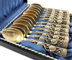 Johannes Siggaard Demitasse Silver Spoon Set, 1947