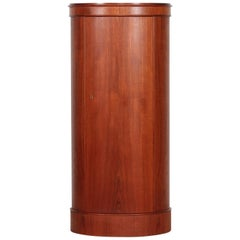 Johannes Sorth Danish Modern Oval Pedestal Cupboard made of Teak, Denmark, 1960s