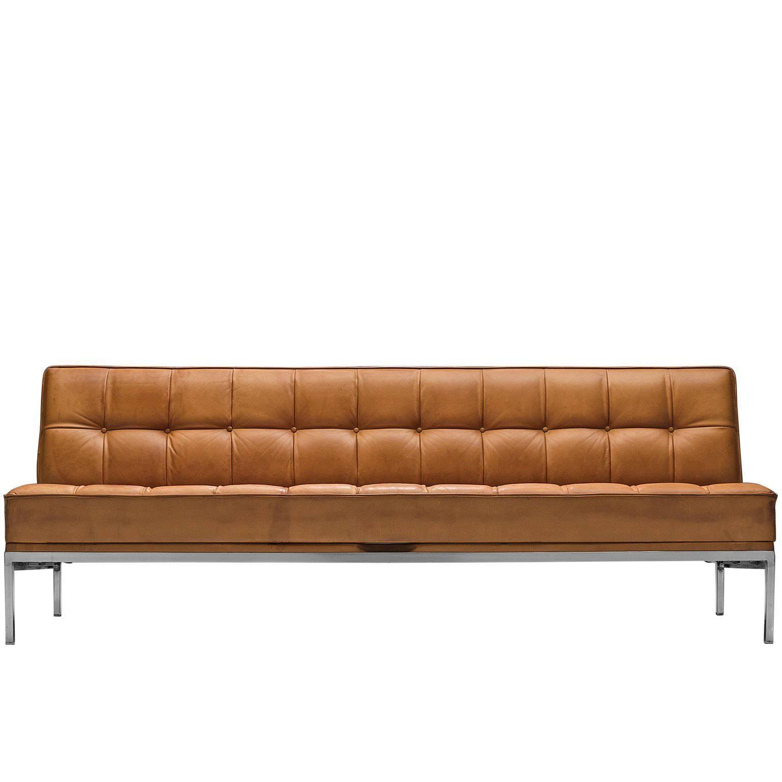 Johannes Spalt U0027Constanzeu0027 Cognac Leather Sofa ...