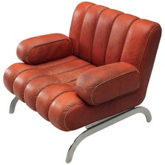 Johannes Spalt 'Independence' Armchair in Red Leather for Wittmann