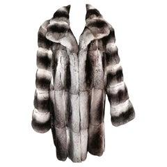 Johm galliano chinchilla fur coat size 16