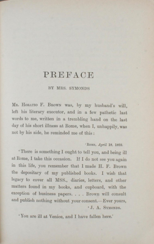 Gilt John Addington Symonds: A Biography, 1st Ed For Sale