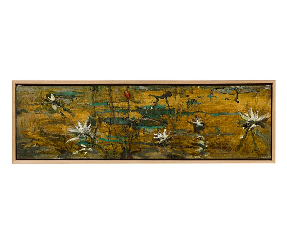 John Alexander, My Oriental Period, 1991, painting, oil on canvas, lily pond