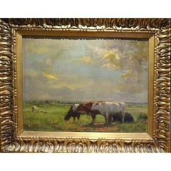 Cattle In A Meadow, Attributed To John Alfred Arnesby Brown (1866-1955)
