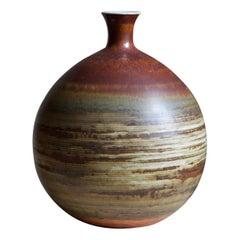 John Andersson, Sizable Vase, Glazed Stoneware, Höganäs, Sweden, 1950s