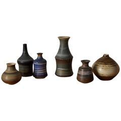John Andersson, Vases, Glazed Stoneware, Höganäs, Sweden, 1950s
