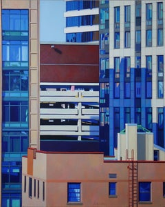 Red Ladder, Painting, Oil on Canvas