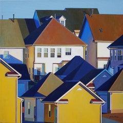 Suburban Life, Painting, Oil on Canvas