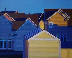 Yellow Garages, Painting, Oil on Canvas