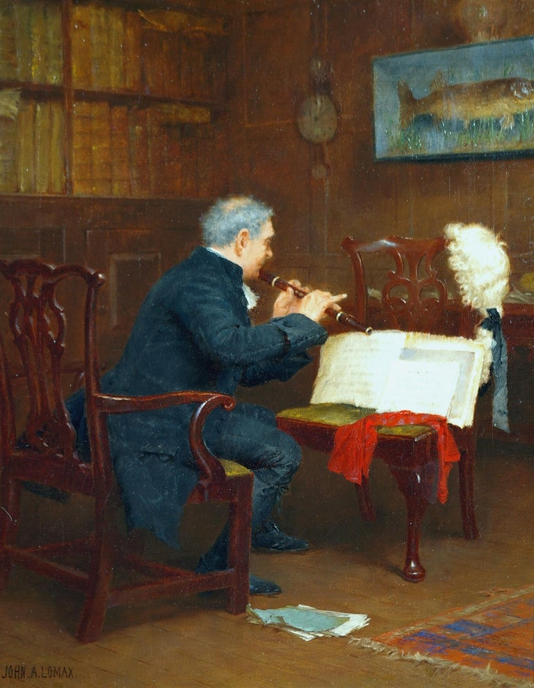 The Recital - Painting by John Arthur Lomax