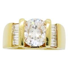 John Atencio 2.01 Carat Oval Cut Diamond Ring