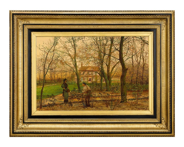 Autumn Garden Walk - Painting by John Atkinson Grimshaw