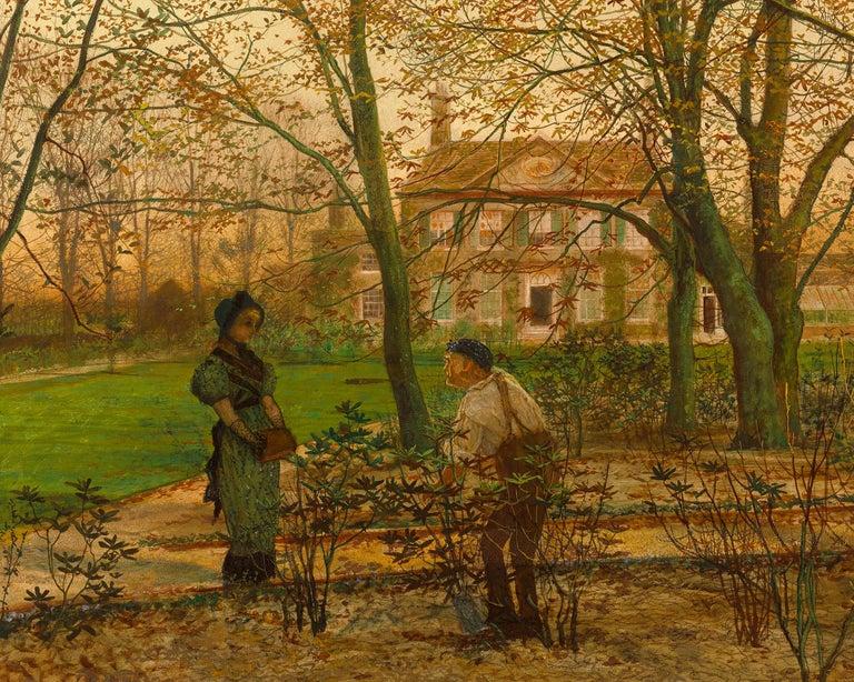 Autumn Garden Walk - Pre-Raphaelite Painting by John Atkinson Grimshaw