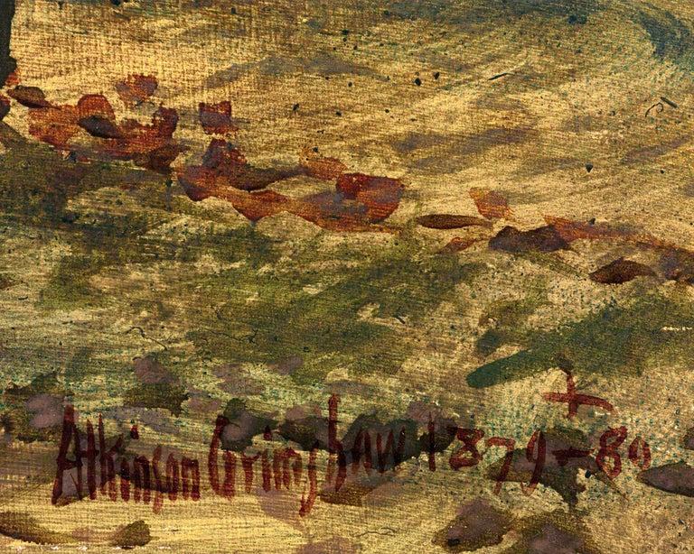 Autumn Garden Walk - Brown Landscape Painting by John Atkinson Grimshaw