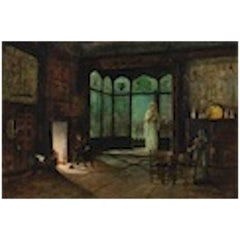 John Atkinson Grimshaw, a Scene from Act II, Jane Shore