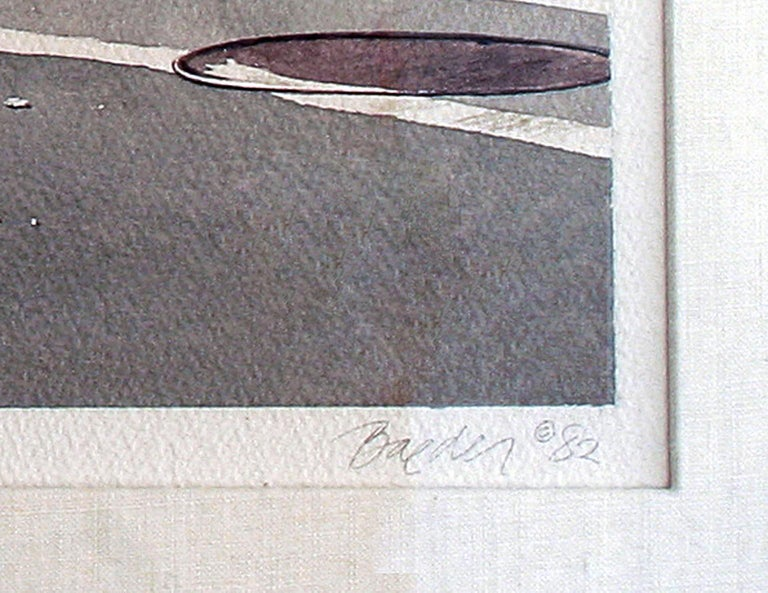 Diner , O.K. Harris Gallery   SoHo - Photorealist Painting by John Baeder
